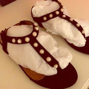 Shoes - NWT!  Gladiator Black sandals. Size 7.5.